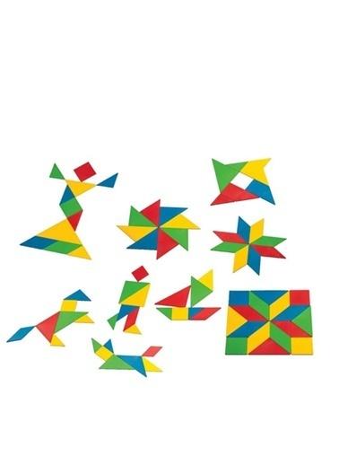 Dede Dede Tangram 28 Parça Eğitici Oyuncak Strateji Bulmaca Oyun Seti Renkli